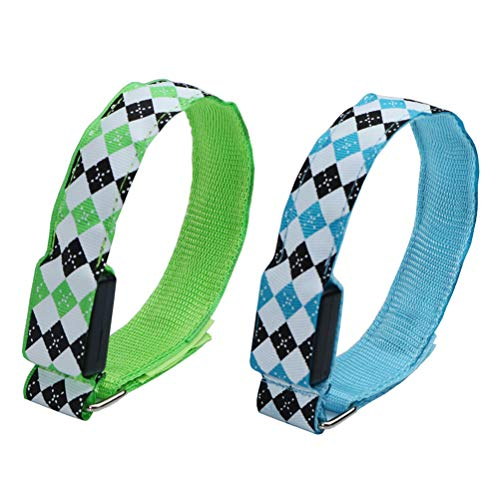 ABOOFAN 2 brazaletes de LED para exteriores que brillan intensamente, pulseras luminosas para actividades nocturnas, fiestas de correr (azul, verde)