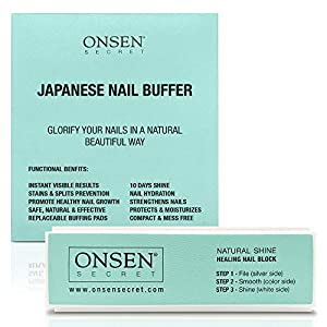 Beauty Shopping Onsen Professional Nail Buffer, Ultimate Shine Nail Buffing Block With 3 Way Buffing Methods, Smooth & Shine After Onsen…