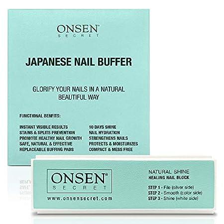 Beauty Shopping Onsen Professional Nail Buffer, Ultimate Shine Nail Buffing Block With 3 Way Buffing
