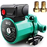 BACOENG 3/4 inch NPT Hot Water Circulation Pump for Floor Heating & Recirculating System w/ Connectors