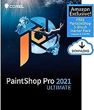 Corel PaintShop Pro 2021 Ultimate   Photo Editing & Graphic Design Software Plus Creative Collection   Amazon Exclusive 5-Brush Starter Pack [PC Download]