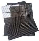 2x300x400mm Glossy Carbon Fiber Sheet Plate Panel 3K Twill Mirror Like...