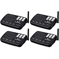 Hosmart 1/2 Mile Long Range 7-Channel Security Wireless Intercom System for Home or Office (Black)