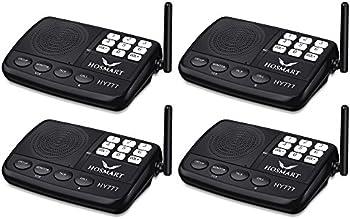Hosmart 1/2 Mile Long Range 7-Channel Security Wireless Intercom System