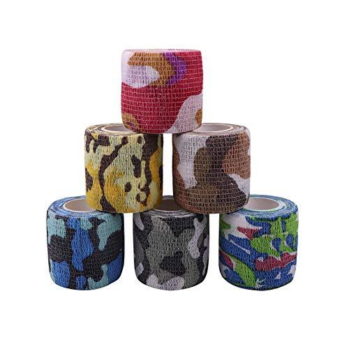 Houdao 6 Rollen Selbstklebender Verband Flex Selbsthaftende Bandagen Elastische Fixierbinde Selbsthaftend für Finger Handgelenk,Knie,Knöchelverstauchungen und Schwellungen für Hunde und Haustiere