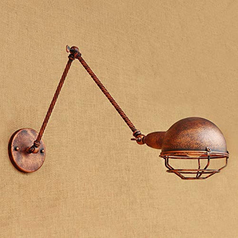 Ganeep Vintage Industrial Style Loft Wandleuchten Kreative Minimalistische Lange Arm E27 LED Wandleuchte Verstellbarer Griff Metall Rustikale Licht Wandleuchte Leuchten (Gre   30CM)