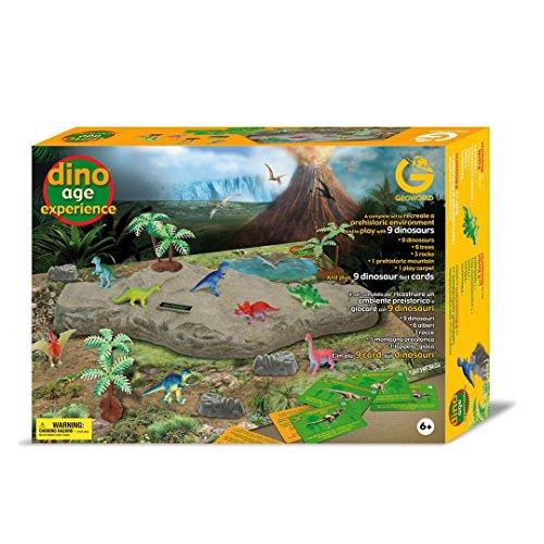 Geoworld 625242 - Dino Age Experience-Spielset, 9 Dinosaurierfiguren, Alter: 6+