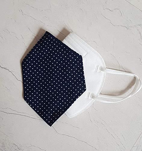 Überzug Cover für Maske Punkte Business dunkelblau Mundschutz Maske Verschönerung Baumwolle Maskenüberzug Abdeckung waschbar Handarbeit Punkte verschiedene Farben
