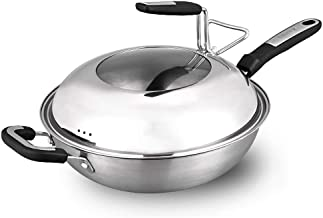 Non-stick Pan Saucepan with Lid Stainless Steel Pan Fry Pan Stockpot Fast Heat-up Food Cooker