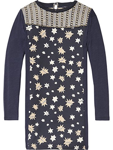 Scotch & Soda Woven Star Jersey Kleid Vestido para Niñas