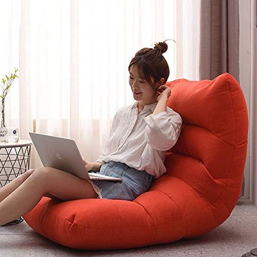 KUYH Sillón sin marco, moderno y simple, con funda protectora extraíble, adecuado para juegos de ocio y juegos, ver televisión (tamaño: 90 x 120 x 20 cm)