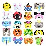 40 Máscaras de Animales de Espuma