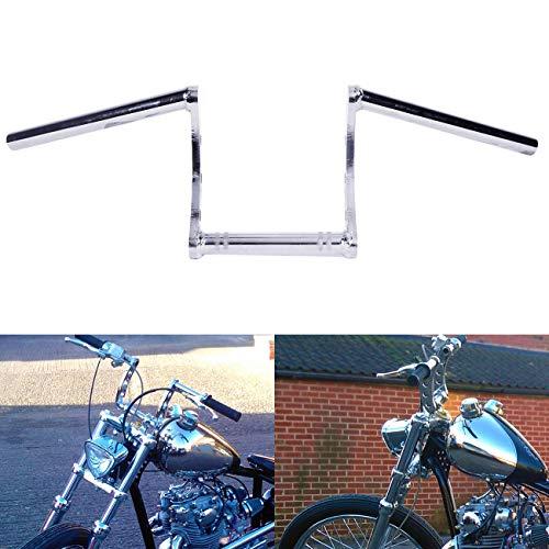 "INNOGLOW Motorcycle Handlebars 26mm(1"") Handlebar Drag Z Bars Chrome fit for Harley Yamaha Honda Suzuki Kawasaki Ducati BMW Dirt Bike/Street Bike/Naked Bike/Chopper/Bobber/Cafe Racer"