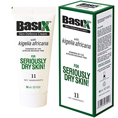 Basix Skin Defence Repair Cream Dry Flaky Itchy Skin Soothes Eczema Psoriasis Dermatitis Acne with 11 Active Ingredients Natural Healing Kigelia Africana Kakadu Plum Ginger Rose Rosehip Aloe Vera