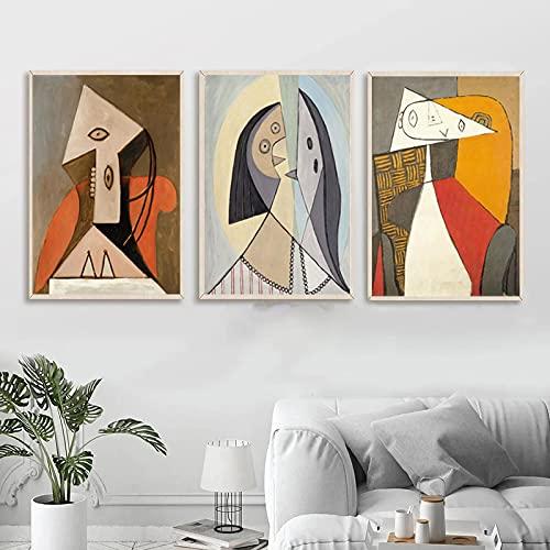 Flecha Picasso Famoso Moderno Abstracto Figura Pintura Arte Cartel Impresión Muebles Salón...