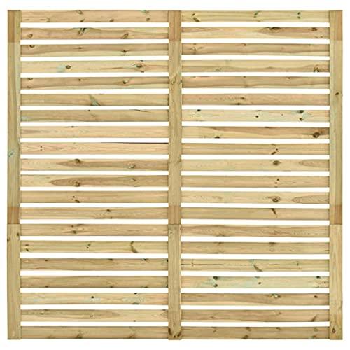 Gartenzaun, Kieferholz Imprägniert Sichtschutzzaun Nature Lamellenzaun für Zuhause, 180 x 180 cm
