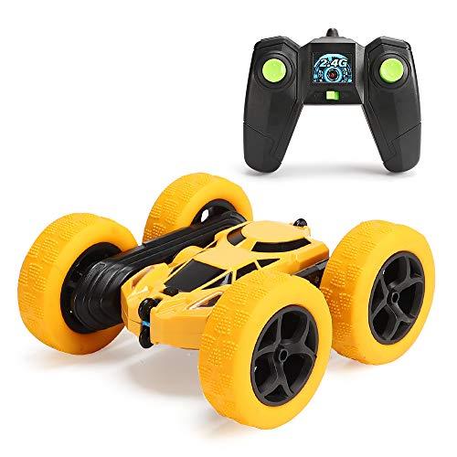 Regalo de juguete de coche con control remoto para niños de 6 a 12 años, carreras fuera de carretera 360 ° flip control remoto truco camión de coche 180 ° vehículos de truco inverso, vehículo 2.4G RC para niños niñas