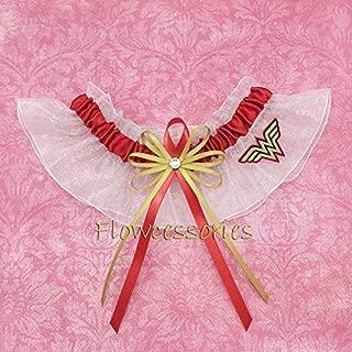 Wonder Women handmade bridal wedding keepsake garter