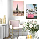 AdoDecor Erröten Rosa Landschaft Poster Wüste Bus Poster