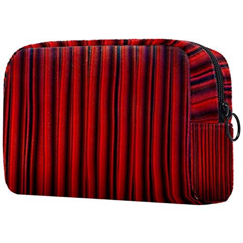 Bolso multifuncional de la bolsa del caso del bolso del cosmético, cortina roja