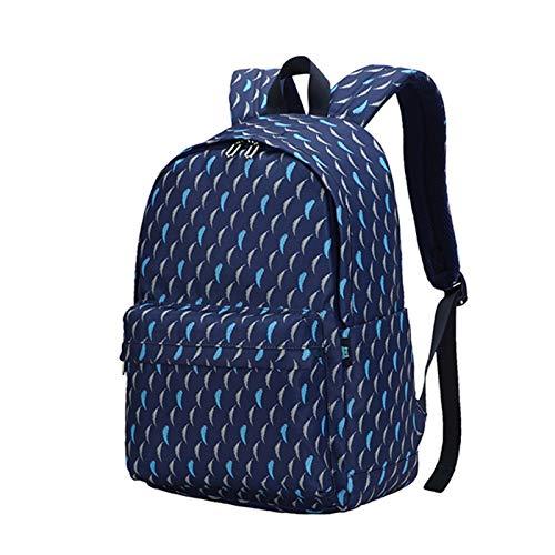 MxZas Backpacks per Ragazzi per Bambini Borse Scuola elementare Books Asilo BOOKBAGS Borsa per finestre Notti per la Notte Bookbag primari (Color : Blue, Size : 29x13x42cm)