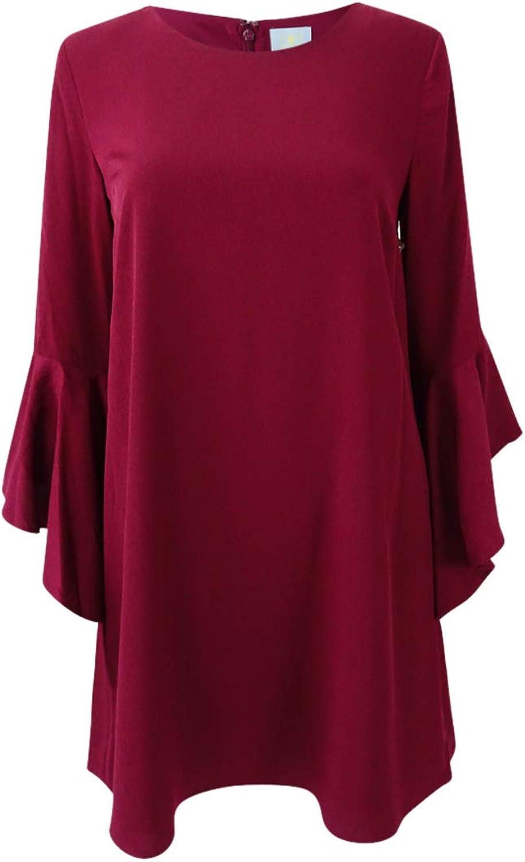C&E CeCe Womens Bell Sleeve Mini Cocktail Dress
