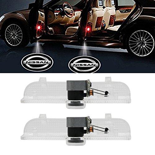 Klinee Car Door LED Welcome Projector Easy Installation Car Door LED Logo Projector Emblem Courtesy Step Lights for Nissan