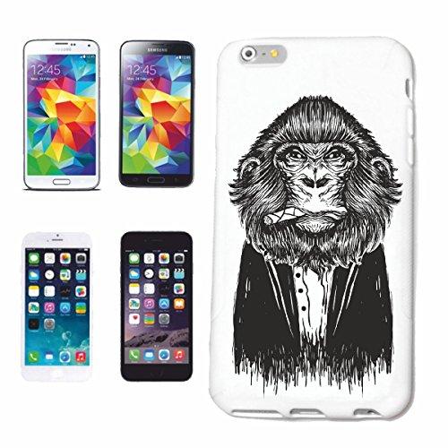 Reifen-Markt Handyhülle kompatibel für Huawei P9 SILBERRÜCKEN MIT ZIGARRE Monkey Schimpanse AFFE Gorilla SILBERRÜCKEN MENSCHENAFFE Charly AFFEN King Kong Hardcase