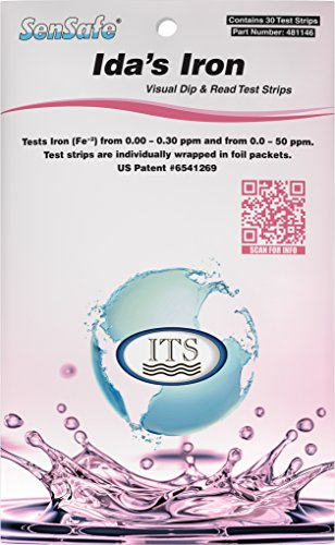 Industrial Test Systems 481146 Sensafe Iron (Ida's) Water Test Strips 30 Pack