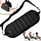 Foot Rest Airplane Travel Footrest - Flight Leg Hammock Hanger Sling to Prevent Back, Leg, Knee, Hip Pain & Stiffness - Portable Travel Accessories Adjustable Height for Plane, Train, Office