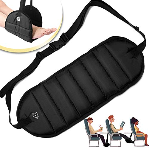 Foot Rest Airplane Travel Footrest - Flight Leg Hammock Hanger Sling to Prevent Back, Leg, Knee, Hip Pain & Stiffness - Portable Travel Accessories...