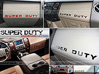 SF Sales USA - Black Letters for Super Duty 2008-2016 Dashboard Inserts Not Decals
