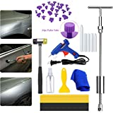 Henergy Paintless Dent Repair Remover Tool Kit Professional Car Slide Hammer T Bar Dent Removal Puller Auto Body Hail Damage Glue Tabs Down Kits