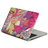 GADGETS WRAP Pink Flowers Vinyl Decal Sticker for DIY MacBook Air Pro Retina 11 13 15 Inch Decal for Mac Laptop Full Cover Skin Sticker