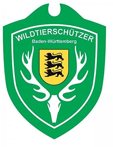 Waidmannsbruecke Erwachsene Wildtierschützer Baden-Württemberg Autoschild, Grün, One Size