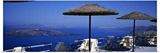 GREATBIGCANVAS Poster Print Table and Chairs on a Balcony, Santo Winery, Fira, Oia, Santorini, Greece by 36