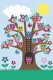 Eulen - Eulenbaum/Owls in a Tree - Tier Poster Plakat Druck