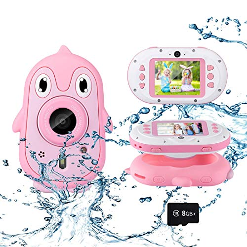 Luoges Kids Digital Waterproof Camera Toys for 4-12 Year Old Boys Girls Christmas Birthday Gifts,Underwater Camera for Kids with 1080P 2.4