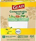Glad Trash & Food Storage Kitchen Compost Bags 2.6 Gallon 100%...
