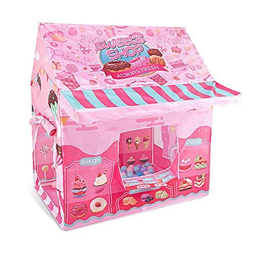 WZXX Kind Spielzeug Zelt, with Anti-Moskito Bildschirm Spielzeug Haus Genug Platz Ist Stabil Spielhaus Tipi Für Indoor Outdoor Geschenke Garten Geschenk,Rosa