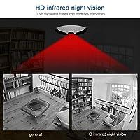小型サイズのパノラマ カメラ ネットワーク監視 WiFi カメラ、店、家(US standard 100-240V, Transl)