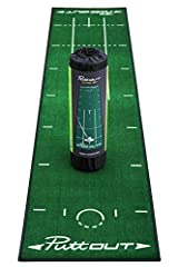 For any golfer a home putting set-up is an essential training tool, and the PuttOUT Putting Mat makes practice enjoyable, effective and easy to fit into your day wherever you are. Constructed with a durable, heavy-rubber backing to allow the mat to l...