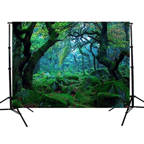 MASUNN 5X3Ft Natuur Jungle Bos Boom Fotografie Achtergrond Achtergrond Studio Props