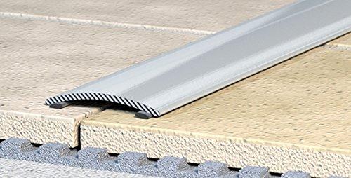 Übergangsprofil, Anpassungsprofil, Ausgleichsprofil 60 mm - Alu eloxiert: natur-silber - selbstklebend ( C-02 )