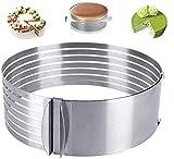 YFOX Edelstahl Tortenring Multilayer Tortenschneider mit verstellbarem Mousse Ring...