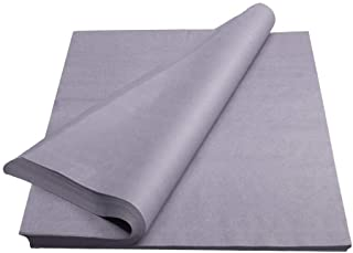 Crown 480 Sheets Bulk Pack Grey Tissue Paper Gift Wrap - Ream of Paper - 20 inch. x 30 inch. Wrapping Tissue Paper - for Scrapbooking Paper, Art n Crafts, Wrapping and More!!