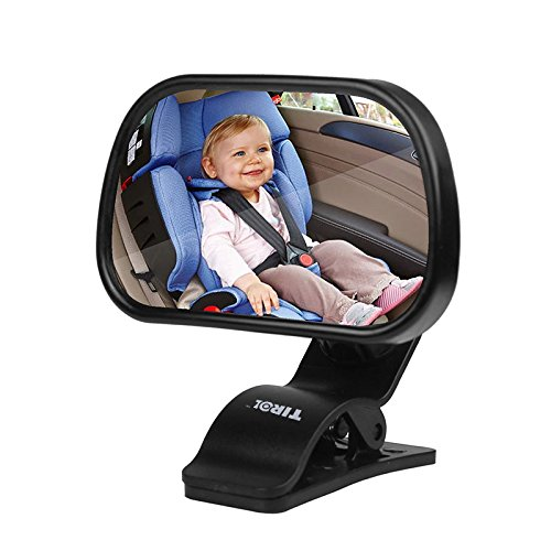 Specchietto retrovisore bambini, Due in uno Specchio Auto Bambino, Specchietto Regolabile Neonato,Guida in sicurezza e monitora il tuo...