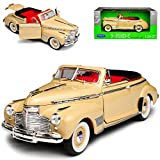 Welly Chevrolet Special Deluxe 1941 Cabrio Creme Weiss 1/24 Modell Auto
