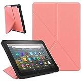 ZhaoCo Funda Compatible con Kindle Fire HD 8 2020 y Fire HD 8 Plus (10 ª Generación, Versión 2020), Carcasa Ligera de Cuerpo Completo para Fire HD 8/Fire HD 8 Plus 2020 - Pink