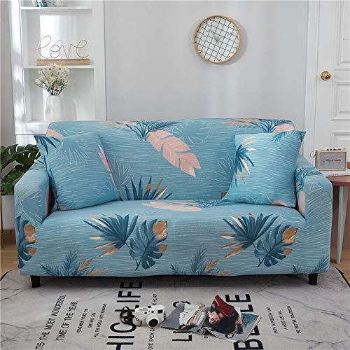 WXQY Funda de sofá Floral de poliéster, Funda de sofá retráctil para Sala de Estar, Funda de sofá elástica para Silla, Funda de sofá, Toalla, Funda de sofá A13, 3 plazas